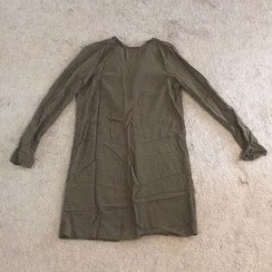 Size 2 H&M army green long-sleeve dress